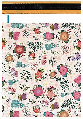 200 Bags 100 10x13 Cute Rabbits 100 10x13 Pink Flowers Designer Poly Mailers