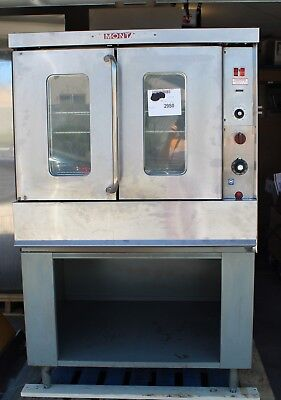Montague Gas Convection Oven 115x Ag Series Full Size W 3 Racks Stand. Tested