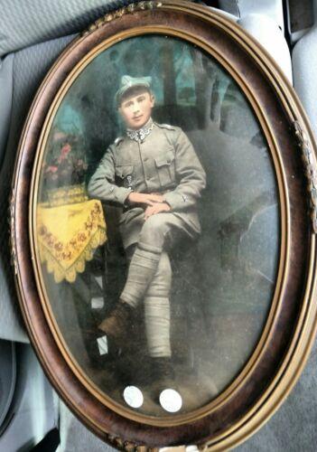 POLISH WWI ENLISTED MANS FRAMED PORTRAIT
