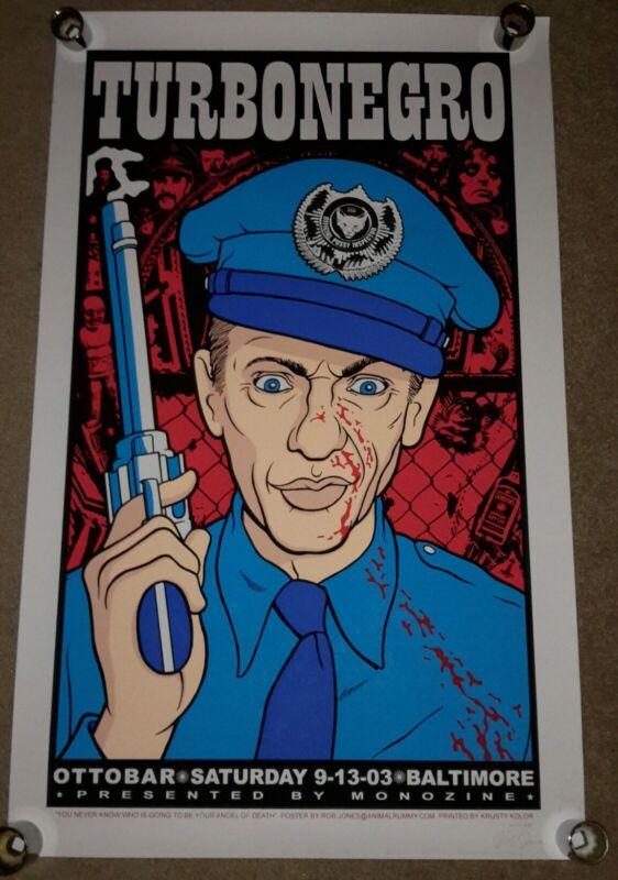 Turbonegro Otto Bar Gig Poster 2003 Rob Jones (S/N)