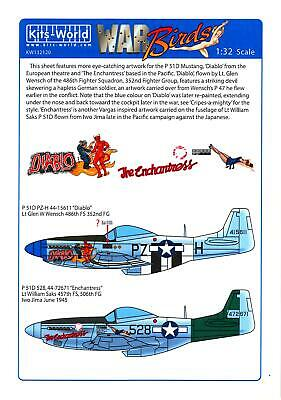 Kits World Decals 1/32 NORTH AMERICAN P-51D MUSTANG Diablo & The