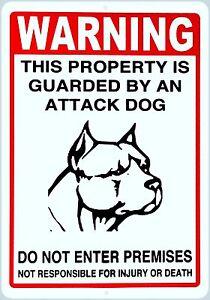 Warning Sign - Attack Dog on Duty Sign Beware of dog sign