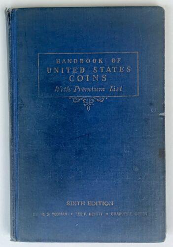 "1948 Handbook Of United States Coins-6th Edition ""Blue Book"" Hardcover"