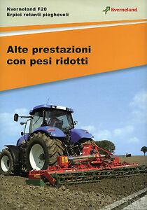 """PUBBLICITA'/WERBUNG """" Kverneland F 20 - ERPICI ROTANTI PIEGHEVOLI """" - Italia - L'oggetto può essere restituito - Italia"""