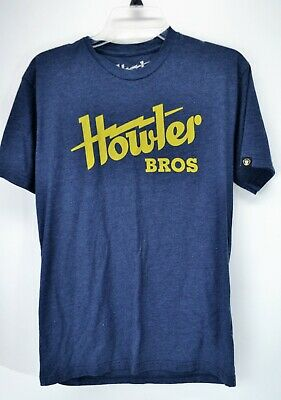 Howler Brothers Men's Blue Medium Short Sleeve T-Shirt   (C6)