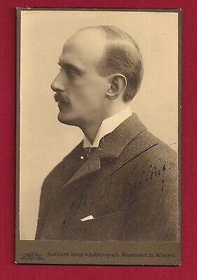 1909 MAX von SCHILLINGS - signiertes Porträt + Widmung