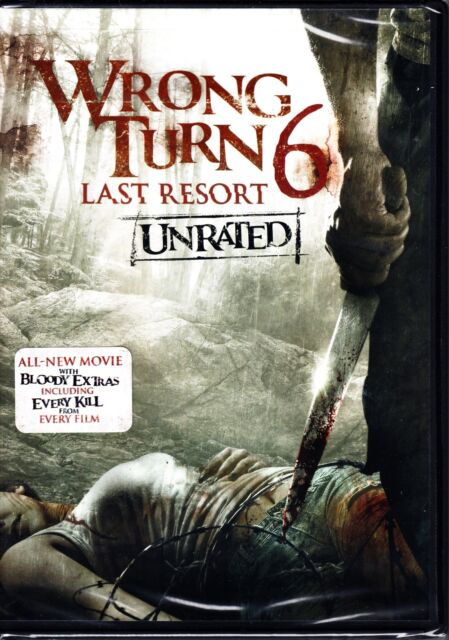 WRONG TURN 6 - LAST RESORT (UNRATED) 2014 DVD R1 NEW & SEALED!