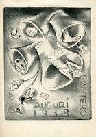 Fingesten, Auguri Mantero, 1938, Rare Puntasecca, Drypoint, Morte, Macabro -  - ebay.it