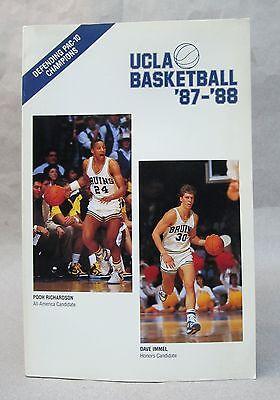 1987-88 UCLA BASKETBALL Press book media guide