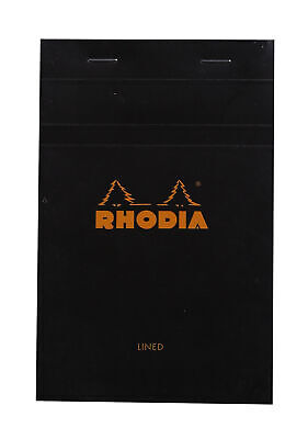 Rhodia Staplebound Notebook 4 38 X 6 38 Black Lined