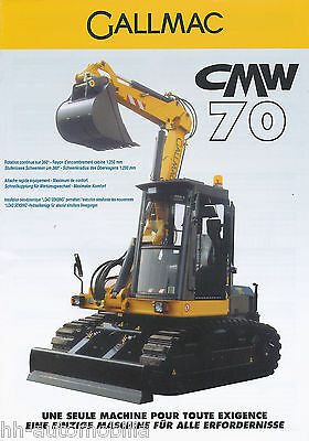 Gallmac CMW 70 Bagger Prospekt 2003 D F brochure excavator excavateur China Asia