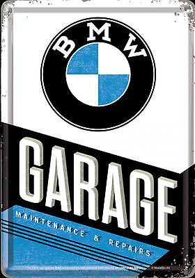Nostalgic Art Blechpostkarte BMW GARAGE Maintenance & Repairs 10 x 14 cm