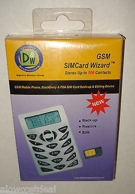 GSM SIM CARD WIZARD COMPACT MOBILE/CELL PHONE/PDA BACK-UP EDITING/MEMORY READER