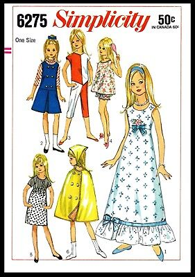 - ~SIMPLICITY 6275~ DOLL Fabric Sewing Pattern Barbie Lil sister 9