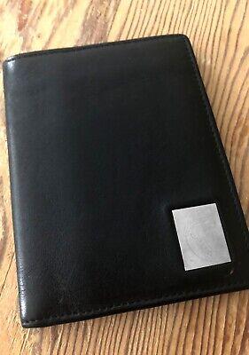 Versace Black Leather Card Case Wallet