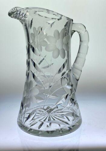Australian Fire Relief: Antique Irving Cut Glass Pitcher ca 1900 Rare