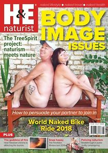 H&E naturist August 2018 magazine nudist health efficiency