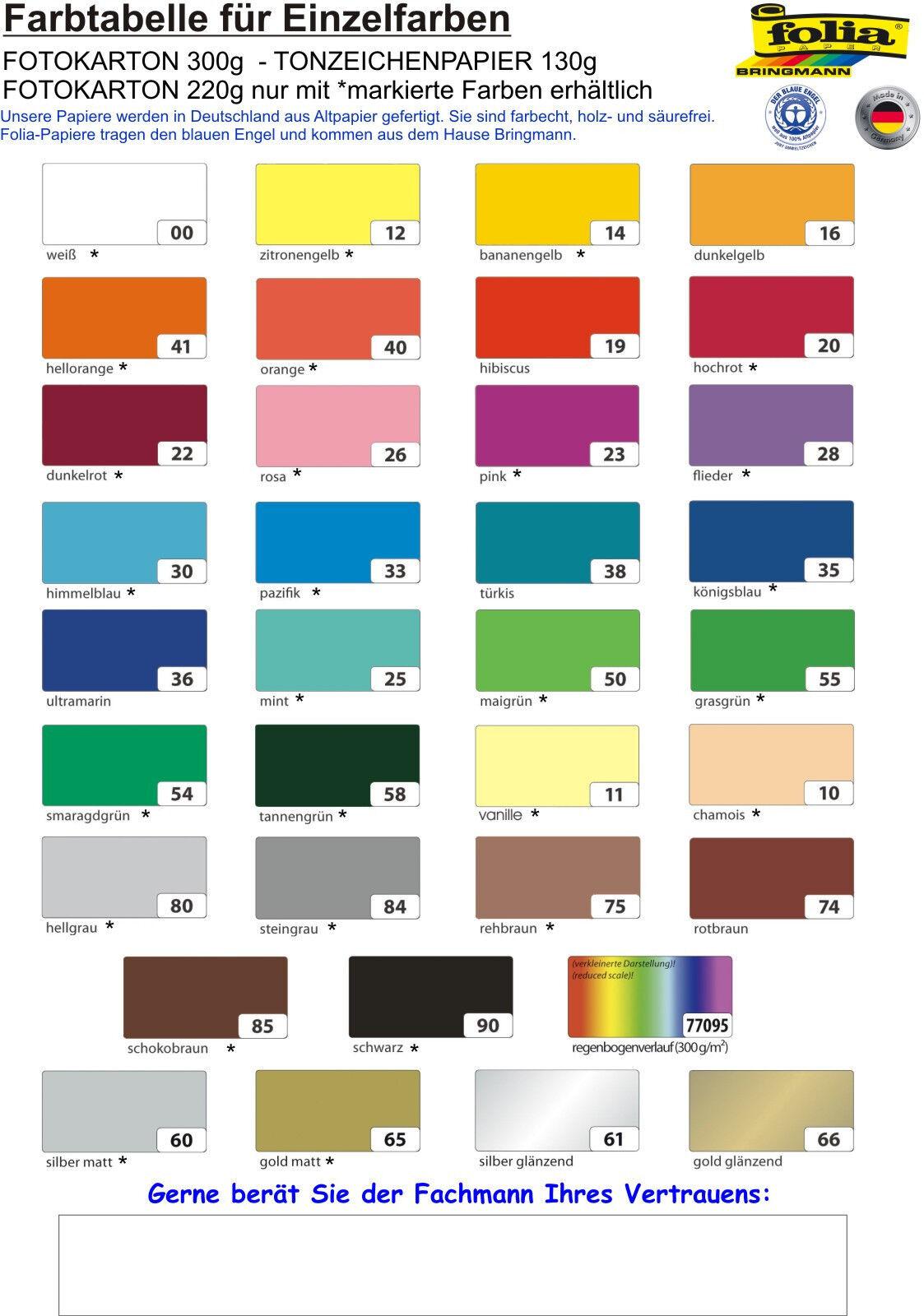 Tonpapier - Tonzeichenpapier Papier basteln 130g DIN A4 100 Blatt UNI