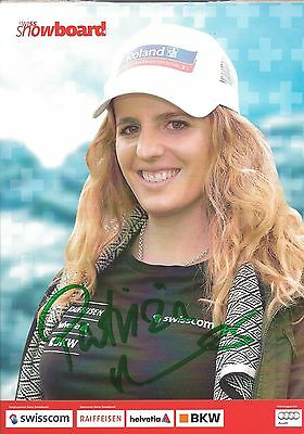 Autogramm AK Patrizia Patricia Kummer Snowboard Schweiz Olympiasiegerin 2014 A6