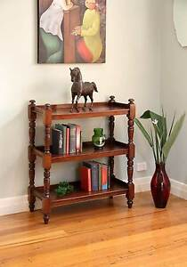 Antique Dumb Waiter / Servery / Bookshelf – 2 Tier – Ring Turned Williamstown Hobsons Bay Area Preview