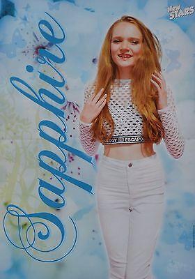 SAPPHIRE - A3 Poster (ca. 42 x 28 cm) - YouTube Star Clippings Fan Sammlung NEU