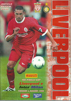 Used, LIVERPOOL F.C V INTER MILAN 1998/99 - THE PIRELLI CUP MATCH PROGRAMME for sale  Shipping to Ireland
