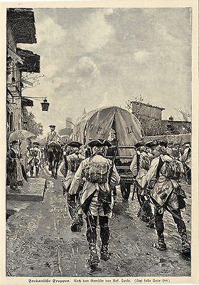 Raf.Sorbi ( Toskanische Truppen ) Militärische Graphik von 1901