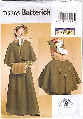 Viktorianisch Dickens Fair Umhang Rock Motorhaube Muff Kostüm Nähen Muster 6 - Dickens Kostüm Muster