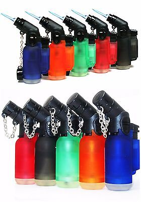5 PACK Windproof 45 Degree Angle Jet Butane Torch Lighter Refillable Lighters