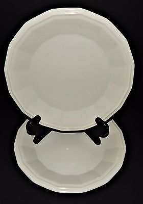 2 Homer Laughlin Classic White Colonial Dinner Plates 219986 Dover CW100 USA