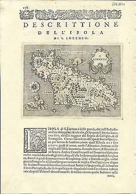 Antique maps, S. Lorenzo [Porcacchi, 1576]