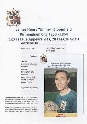 Jimmy Bloomfield Birmingham City 1960 1964 Rare Original Signed Magazine Cutting