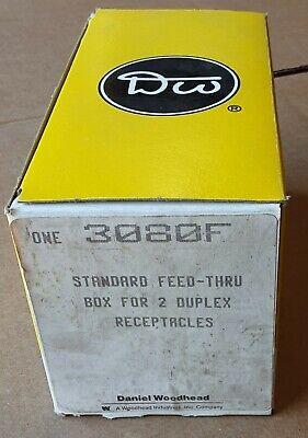3080f Daniel Woodhead Standard Feed-thru Box For 2 Duplex Receptacles