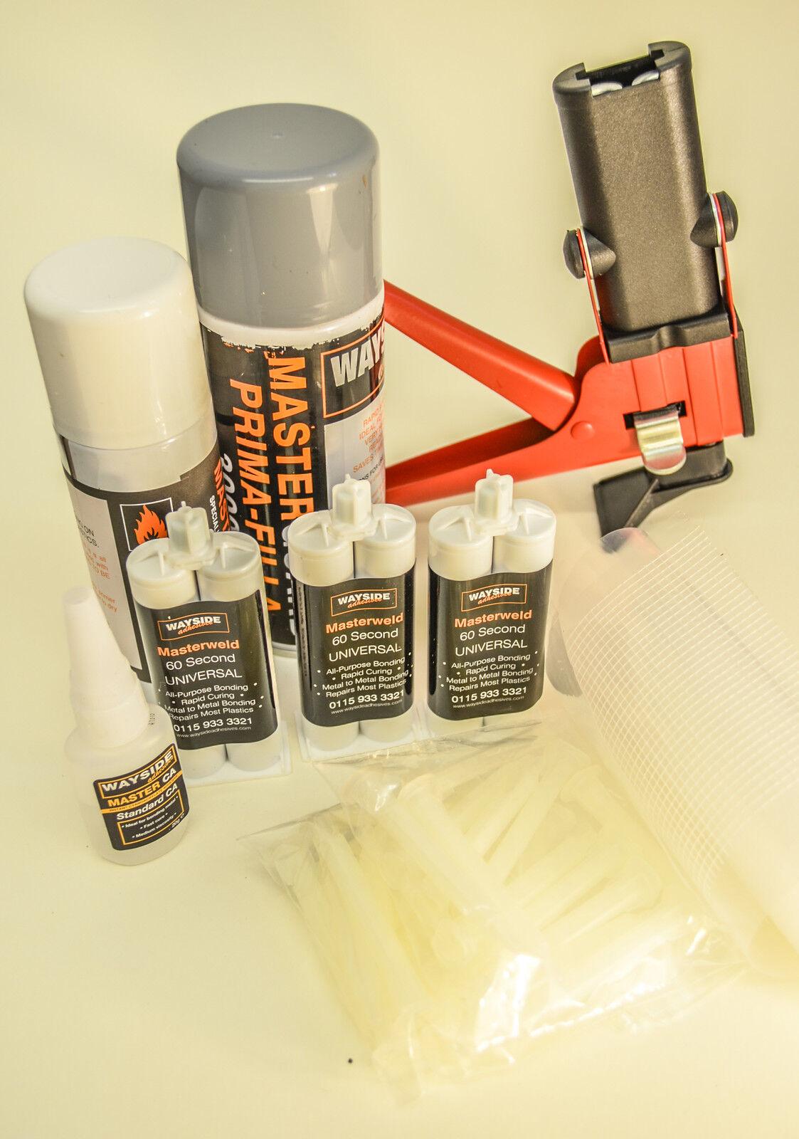 broken cracked plastic car bumper trim repair kit a1. Black Bedroom Furniture Sets. Home Design Ideas