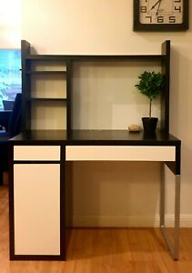 IKEA MICKE Desk with underdesk storage and Hutch with whiteboard