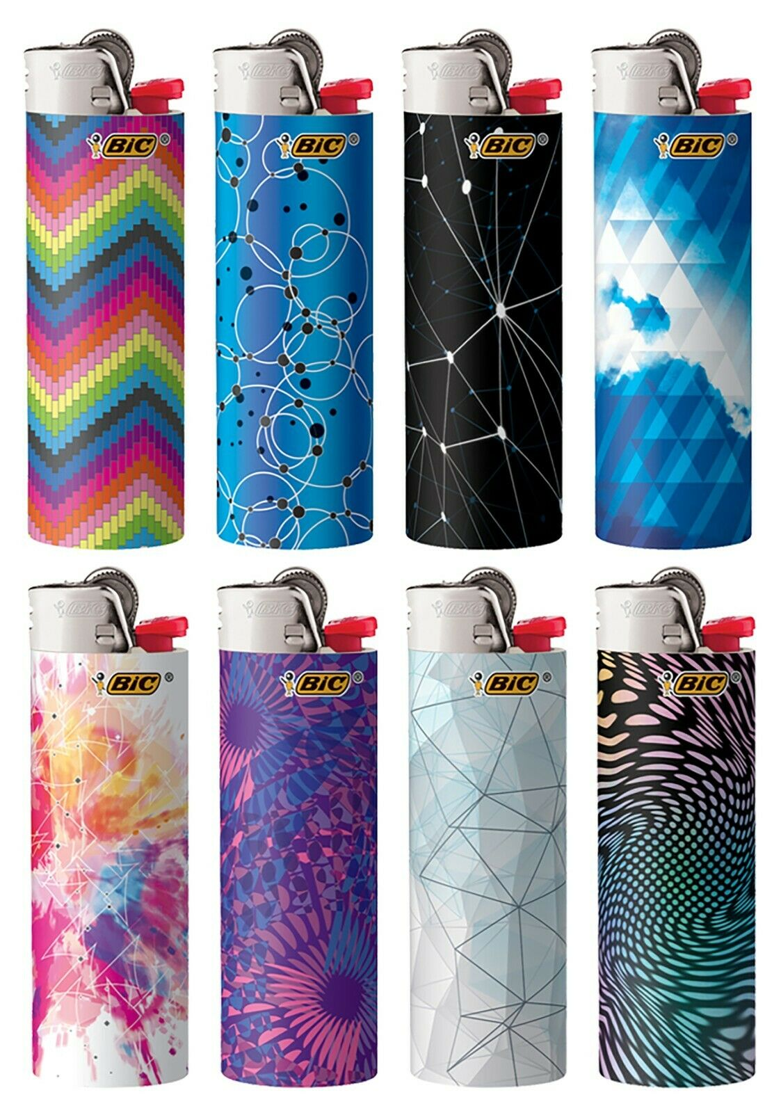 BIC Special Edition Geometric Series Lighters, 2020-2021, Se