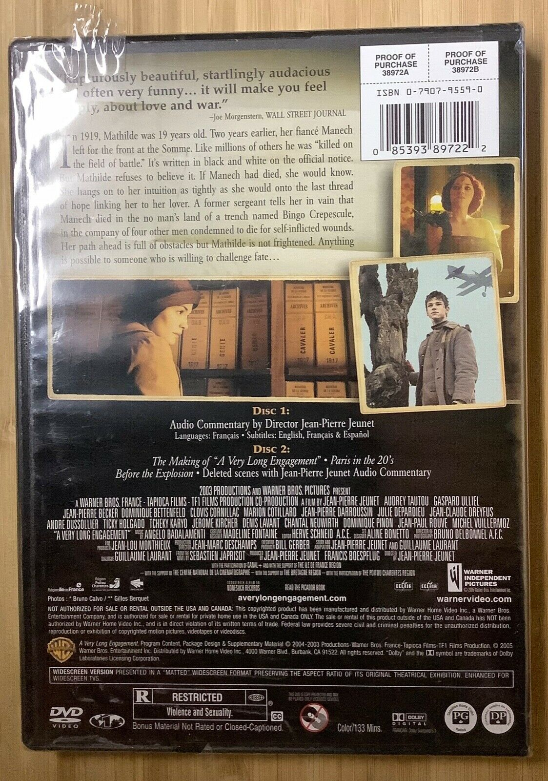 A Very Long Engagement 2004 DVD Audrey Tautou Jodie Foster 2-discs NEW SEALED - $10.00