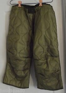Military-Field-Item-U-S-Cold-Weather-Trouser-Liner-MEPS-2-Pair-Quilted-Nylon