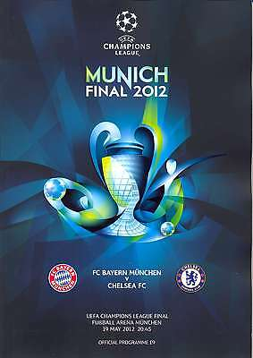 2012 UEFA CHAMPIONS LEAGUE FINAL CHELSEA v BAYERN MUNICH MINT PROGRAMME