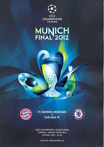** 2012 UEFA CHAMPIONS LEAGUE FINAL CHELSEA v BAYERN MUNICH MINT PROGRAMME **