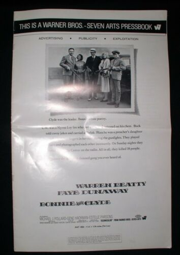 Bonnie and Clyde~Movie Theater Warner Bros.Pressbook~Ads/Publicity/Exploitation