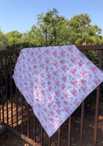 Pink Barns - Modern Country Baby Quilt -Handmade USA