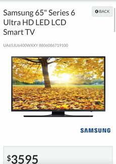 "Samsung 65"" Series 6 Ultra HD LED LCD 4K Smart TV Holden Hill Tea Tree Gully Area Preview"