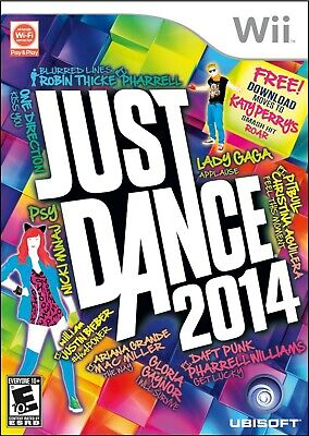 Just Dance 2014 Nintendo Wii Video Game Ubisoft Party Exercise Multiplayer