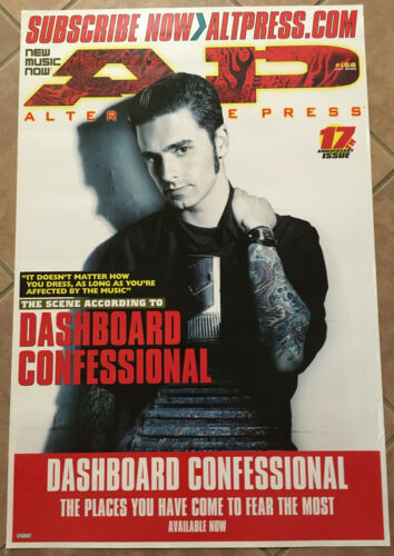 DASHBOARD CONFESSIONAL Rare 2001 PROMO POSTER of Places CD 24x36 NEVER DISPLAYED