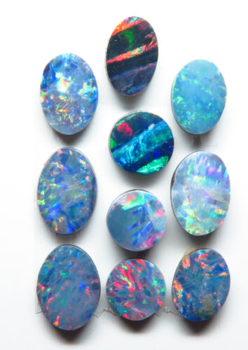 Doublet Opal Assorted Oval and Round 10 Stone Parcel