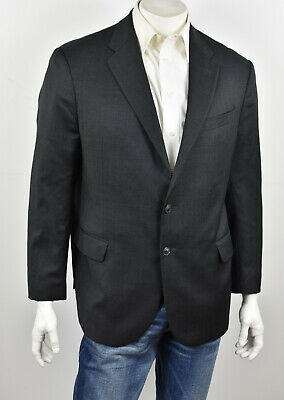 JOSEPH ABBOUD Charcoal Gray 100% Wool Soft Expression SLIM FIT Suit Jacket 44R