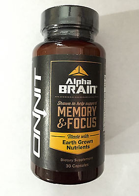 Onnit Labs Alpha Brain Memory & Focus 30 Capsules FREE SHIPPING NEW