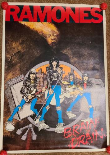 Ramones Poster Brain Drain VERY RARE