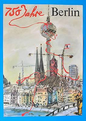 DDR Plakat Poster 1419 | 750 Jahre Berlin 1987 | 81 x 57 cm Original Bodecker